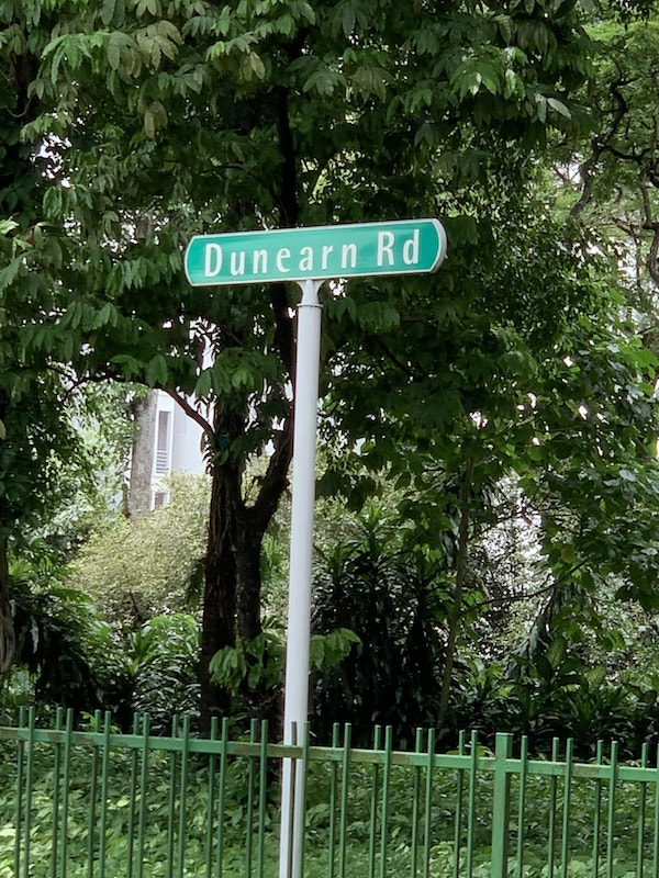 Bukit Timah and Dunearn Road Street Sign